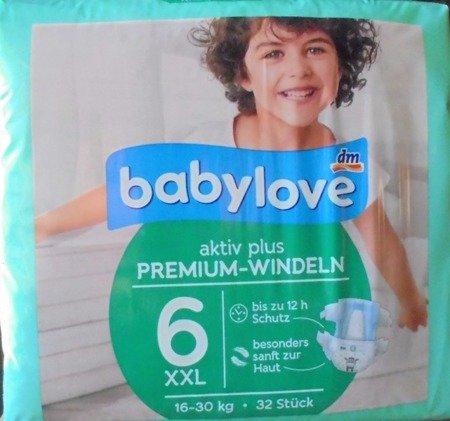 babylove Windeln Premium aktiv plus Größe  XXL 16-30kg 32 szt. pieluchy jednorazowe