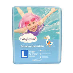 Babydream Schwimmwindeln L large 10 szt. 12-20 kg pieluchy do kąpieli