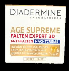 Diadermine Falten Expert 3D Hyaluron-Aktivator 3D Anti-Falten Nachtcreme  przeciwzmarszczkowy krem na noc