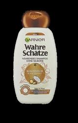 Garnier wahre Schätze nährendes Shampoo Kokosmilch & Macadamia szampon mleko koksowe i orzechy macadamia
