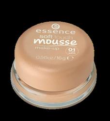 essence Soft Touch Mousse Make-up matujący podkład w musie nr 01 sand piaskowy