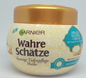 Garnier wahre Schätze Argan-Mandel creme Tiefenpflege-Maske maska do włosów migdały i olej arganowy