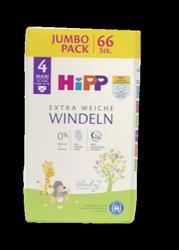 Hipp Babysanft Windeln Gr. 4 Maxi 66 szt. Jumbo Pack,  8-14 kg jednorazowe pieluszki dla dzieci