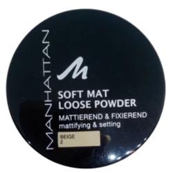 Manhattan Cosmetics Gesichtspuder Soft Mat Loose Powder Beige 2 puder nr 02 beż