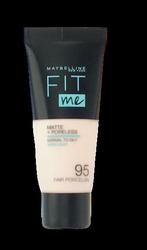 Maybelline Jade New York Fit me! Matte+Poreless mattierendes Make-up 095 Fair Porcelain podkład matujący nr 095 porcelana