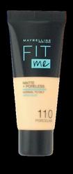 Maybelline Jade New York Fit me! Matte+Poreless mattierendes Make-up 110 Porcelain podkład matujący nr 110 porcelana
