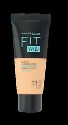 Maybelline Jade New York Fit me! Matte+Poreless mattierendes Make-up 115 Ivory podkład matujący nr 115  kość słoniowa