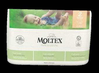 Moltex Windeln nature no.1 Größe 2 Mini, 3-6kg,, 38 szt. ekologiczne pieluchy jendorazowe dla dzieci