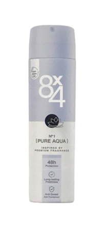 8x4 Anti-Transpirant Spray No. 1 Pure Aqua antyperspirant spray kwiatowy