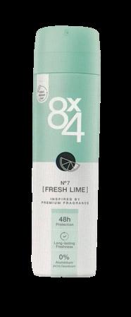 8x4 Deodorant Spray No. 7 Fresh Lime dezodoranat limonka