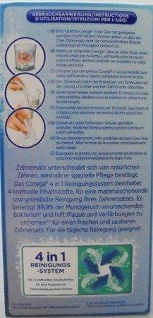 Corega  Gebissreinigungs-Tabletten tabletki do czyszczenia protez 136 szt.