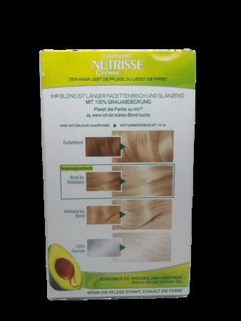 Garnier Nutrisse Farbsensation 10.1A farba do włosów jasny zimny blond nr 10.1A