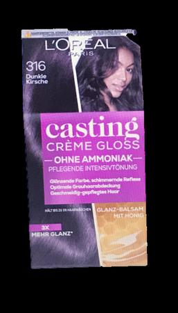 Loreal Casting Creme Gloss Coloration Dunkle Kirsche 316 Goji Beeren farba do włosów ciemna wiśnia 316
