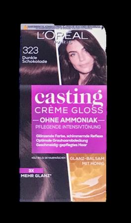 Loreal Casting Creme Gloss Coloration Dunkle Schokolade farba ciemna czekolada nr 323 kokos