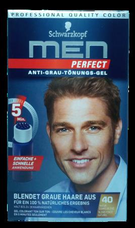 Schwarzkopf Men Perfect  Anti Grau Tonungs gel odsiwiacz  w żelu ciemny blond nr 40