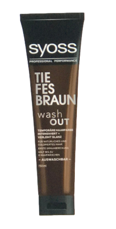 Syoss Tönung washout Tiefes Braun krem tonujący ciepły brąz