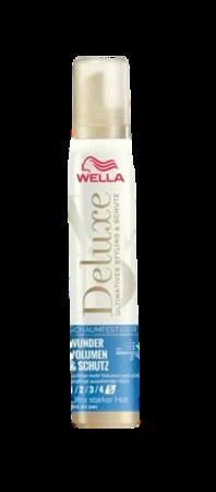 Wella Deluxe Schaumfestiger Wunder Volumen & Schutz ultra ekstra mocna pianka na objętość