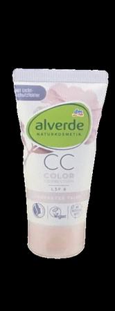 alverde Getönte Tagescreme Perfekter Teint Color Correction Porzellanblume krem CC tonujący 7w1