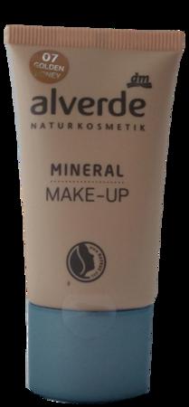 alverde Naturkosmetik Mineral Make-up golden honey podkład mineralny złoty miód nr 07