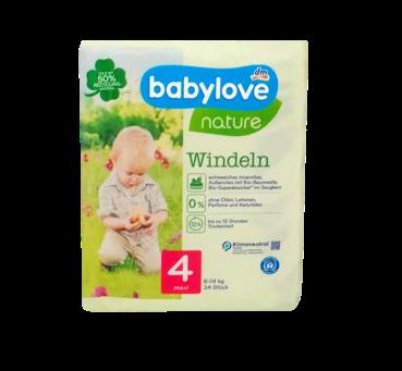 babylove Öko-Windeln nature Größe 4 Maxi  7-18kg 34 szt. pieluchy ekologiczne