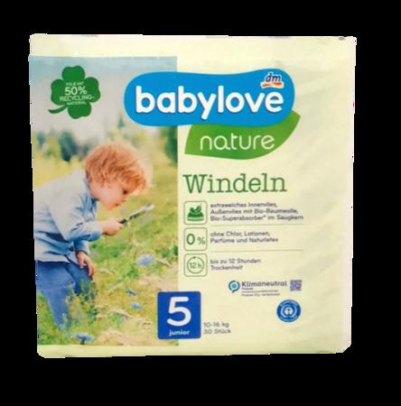 babylove Öko-Windeln nature Größe 5 Junior 12-25 kg 30  pieluchy ekologiczne